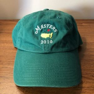 2010 The Masters golf hat Augusta National green